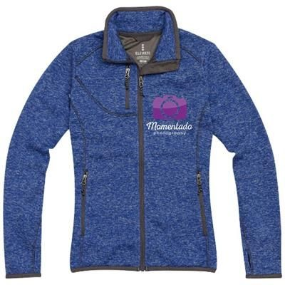 Picture of TREMBLANT LADIES KNIT JACKET in Heather Blue