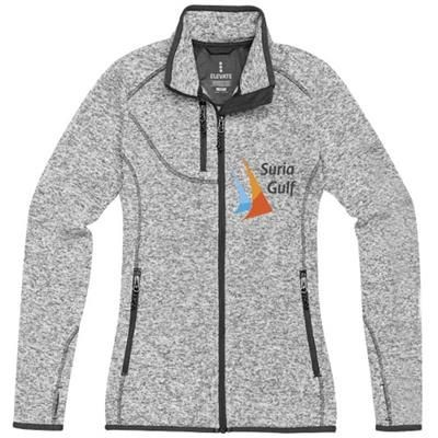 Picture of TREMBLANT LADIES KNIT JACKET in Heather Grey