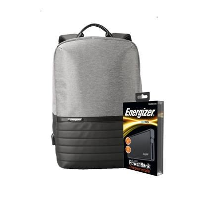 Picture of ENERGIZER EPB001 LAPTOP CHARGER BAG with Ue10004 Power Bank in Grey