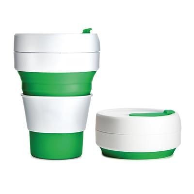 Picture of STOJO COLLAPSIBLE POCKET CUP in Green
