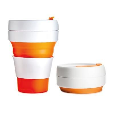 Picture of STOJO COLLAPSIBLE POCKET CUP in Orange