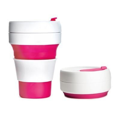 Picture of STOJO COLLAPSIBLE POCKET CUP in Pink