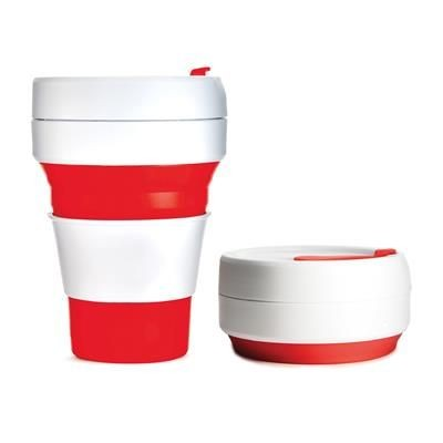 Picture of STOJO COLLAPSIBLE POCKET CUP in Red