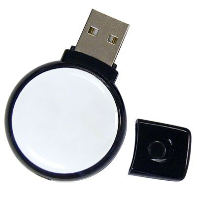 Picture of ROUND 1 USB FLASH DRIVE MEMORY STICK