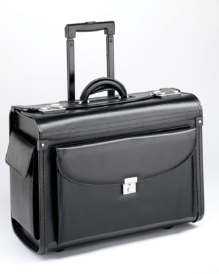 Picture of FALCON 17 INCH LAPTOP 2 WHEELED PILOT CASE SALES DEMONSTRATION CASE in Black