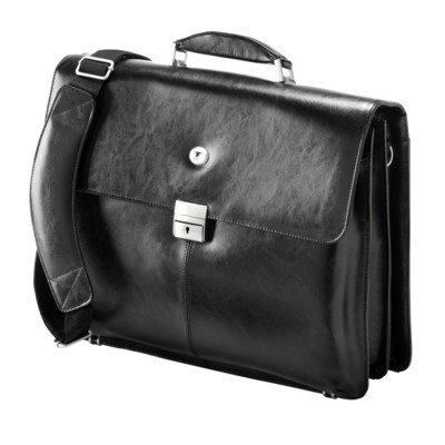 Picture of FALCON 15 INCH LAPTOP BRIEFCASE SHOULDER BAG in Black