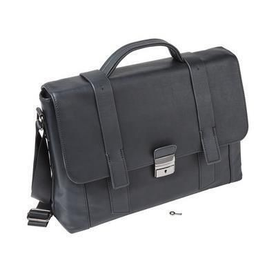 Picture of FALCON 15 INCH LAPTOP FAUX LEATHER BRIEFCAS in Black