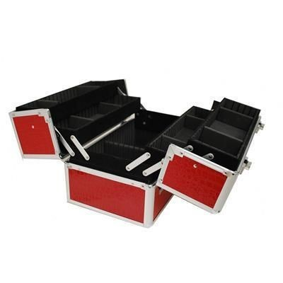 Picture of VANITY FLAIR LARGE MAKE-UP VANITY CASE in Red