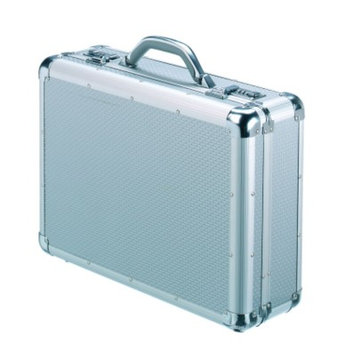 Picture of FALCON ALUMINIUM METAL & ABS BRIEFCASE ATTACHE BRIEFCASE CASE in Silver