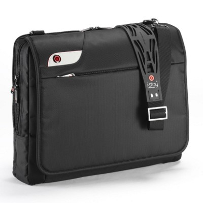 Picture of I-STAY 15 INCH LAPTOP MESSENGER BAG with Non-slip Bag Strap in Black