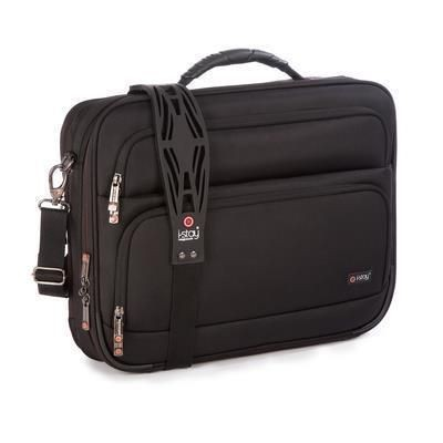 Picture of I-STAY 15 INCH LAPTOP & 10 INCH TABLET CLAMSHELL BRIEFCASE BAG with Non-slip Bag Strap in Black