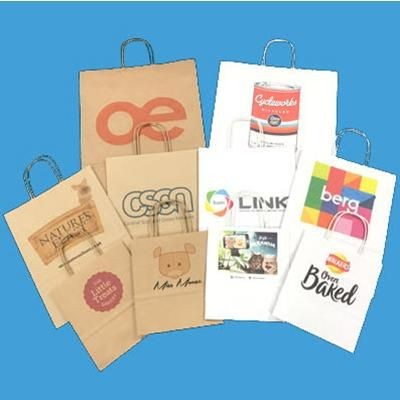 Picture of SMALL TWIST HANDLE KRAFT PAPER BAG