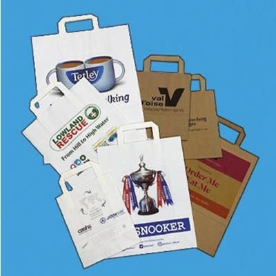 Picture of SMALL TAPE HANDLE KRAFT PAPER BAG, 200X100X280MM