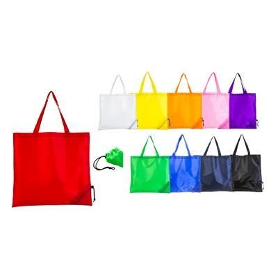 Picture of FOLDING 210D POLYESTER SHOPPER TOTE BAG