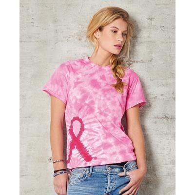 Picture of TIE DYE AWARENESS TEE SHIRT in Pink