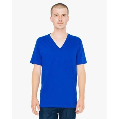 Picture of AMERICAN APPAREL FINE JERSEY V NECK TEE