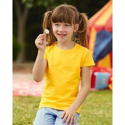 Picture of FRUIT OF THE LOOM CHILDRENS GIRLS VALUEWEIGHT TEE SHIRT