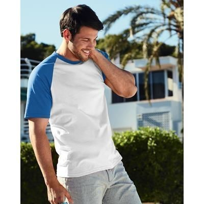 Picture of FRUIT OF THE LOOM SHORT SLEEVE BASEBALL TEE SHIRT