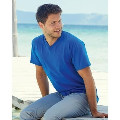 Picture of FRUIT OF THE LOOM VALUEWEIGHT V NECK TEE SHIRT