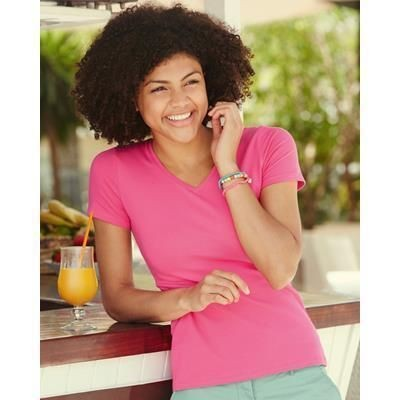 Picture of FRUIT OF THE LOOM LADIES FIT V NECK TEE SHIRT