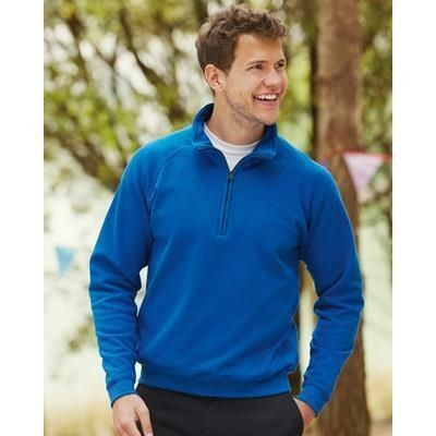 Picture of FRUIT OF THE LOOM ZIP NECK SWEATSHIRT
