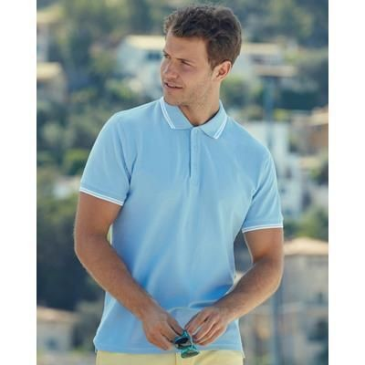 Picture of FRUIT OF THE LOOM MENS TIPPED POLO SHIRT