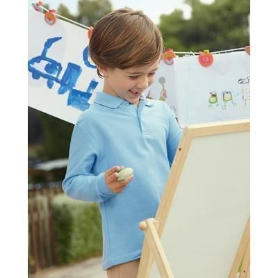 Picture of FRUIT OF THE LOOM CHILDRENS LONG SLEEVE PIQUE POLO SHIRT
