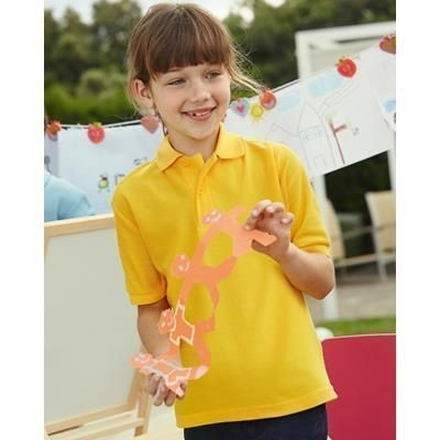 Picture of FRUIT OF THE LOOM CHILDRENS PIQUE POLO SHIRT