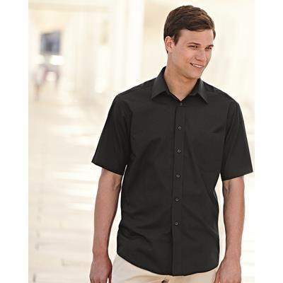Picture of FRUIT OF THE LOOM MENS SHORT SLEEVE POPLIN SHIRT
