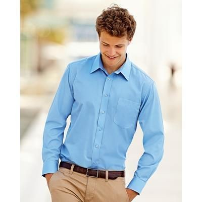 Picture of FRUIT OF THE LOOM MENS LONG SLEEVE POPLIN SHIRT