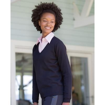 Picture of RUSSELL COLLECTION LADIES V NECK KNITTED PULLOVER