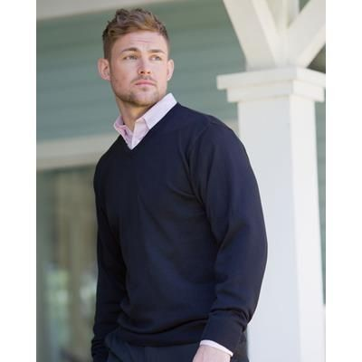Picture of RUSSELL COLLECTION MENS V NECK KNITTED JUMPER