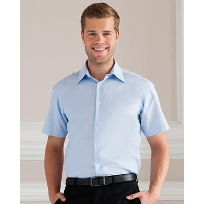 Picture of RUSSELL COLLECTION MENS SHORT SLEEVE OXFORD SHIRT