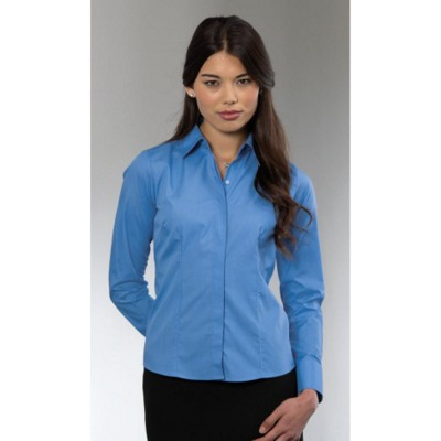 Picture of RUSSELL COLLECTION LADIES LONG SLEEVE POPLIN SHIRT