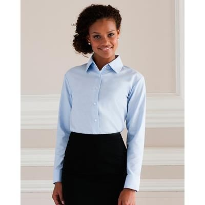 Picture of RUSSELL COLLECTION LADIES LONG SLEEVE EASY CARE OXFORD SHIRT