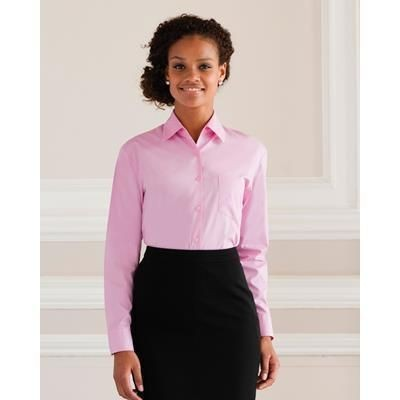 Picture of RUSSELL LADIES LONG SLEEVE PURE COTTON EASY CARE POPLIN SHIRT