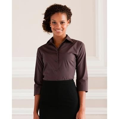 Picture of RUSSELL COLLECTION LADIES EASY CARE FITTED SHIRT