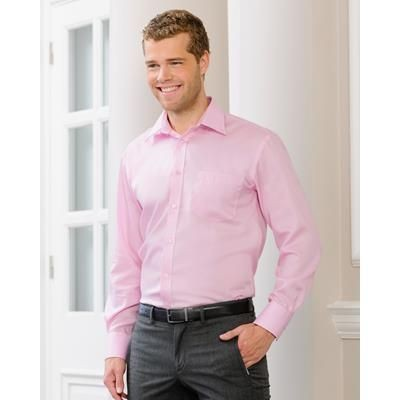 Picture of RUSSELL COLLECTION MENS LONG SLEEVE ULTIMATE NON-IRON SHIRT