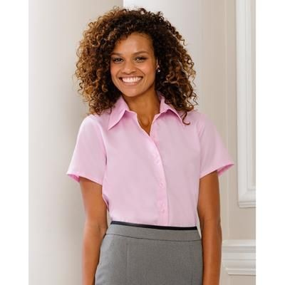 Picture of RUSSELL COLLECTION LADIES SHORT SLEEVE ULTIMATE NON-IRON SHIRT