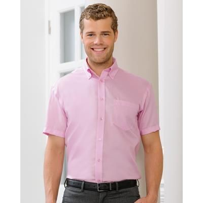 Picture of RUSSELL COLLECTION MENS SHORT SLEEVE ULTIMATE NON-IRON SHIRT
