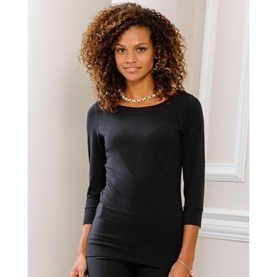 Picture of RUSSELL COLLECTION LADIES THREE QUARTER SLEEVE STRETCH TOP