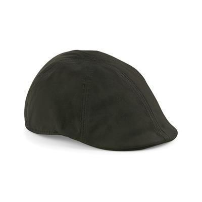 Picture of BEECHFIELD WAXED FLAT CAP in Dark Olive Green
