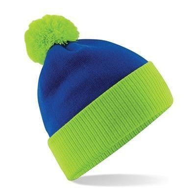 Picture of BEECHFIELD SNOWSTAR TWO-TONE BEANIE HAT