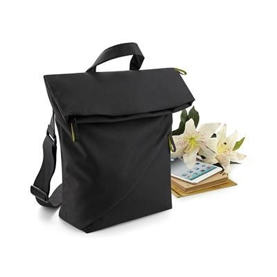 Picture of BAGBASE AFFINITY RE-PET REPORTER BAG in Black
