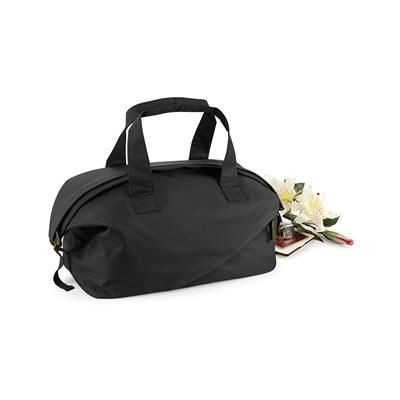 Picture of BAGBASE AFFINITY RE-PET WEEKENDER HOLDALL BAG in Black