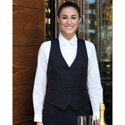 Picture of BROOK TAVERNER LADIES LUNA WAISTCOAT in Black