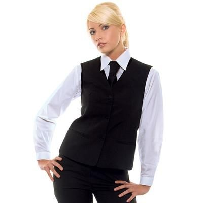 Picture of KARLOWSKY LADIES BASIC WAISTCOAT in Black