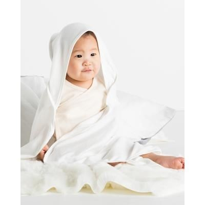 Picture of BABYBUGZ BABY ORGANIC HOODED HOODY PICNIC BLANKET in White