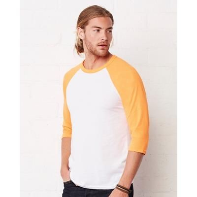 Picture of CANVAS 3 QUARTER SLEEVE BASEBALL TEE SHIRT