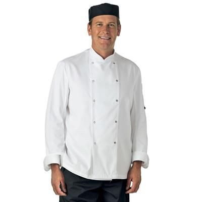 Picture of DENNYS LONG SLEEVE CHEF JACKET in White